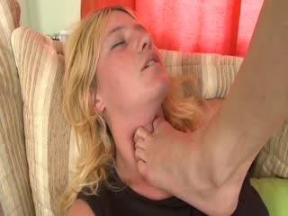Footdom bitch merciless domination to lesbian slave