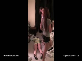 Femdom goddesses trampled a submissive friend