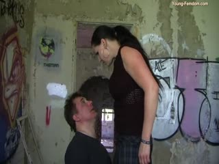 Princess Megan degrading a submissive guy