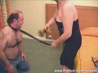 Tough face slapping from mature femdom