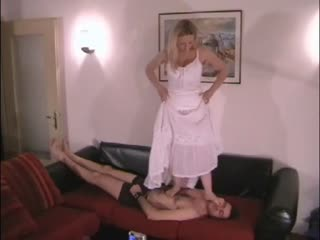 European mistress human dance pad