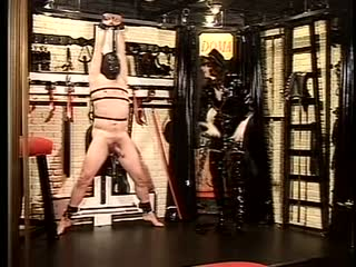 Ball crushing to a bound slave