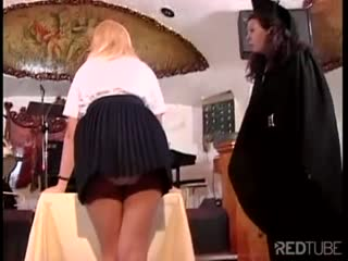 Blonde student slut ass spanked