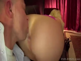 Big breasted femdom got her big butt and pussy licked