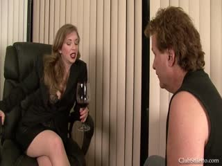 Foot fetish domme and her servant