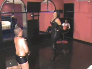 Two Latina mistress whipping slave