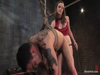 Tough tattooed man lose his control for ruthless mistress