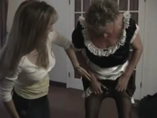 Crossdressed husband gets humiliated by his dominant wife