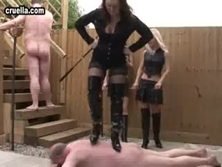 Boots trampling party to their slaves
