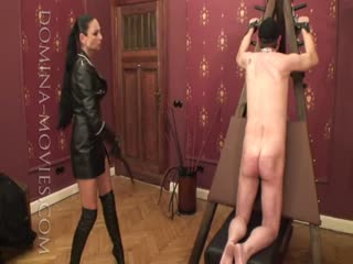 Madame Catarina violated ass of a loser slave