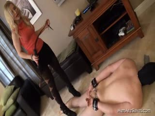 Slave tormented in the floor
