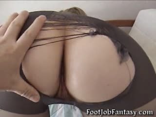 Cum on her nylon ripped ass