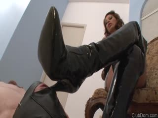 Boots worshiping and fucking domination POV