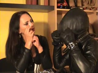 Slave suffocated in latex fitted outfit