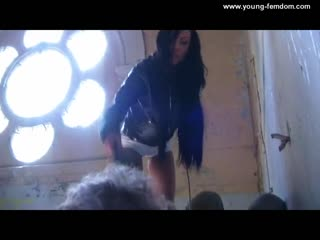 Young goddess learn to trample