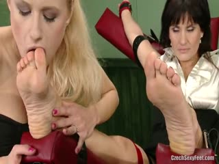 The foot fetish blonde lesbian