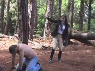 Disciplining slave in the forest