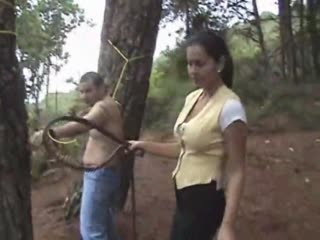 Tied in a big tree and whipped