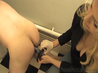 Dildo fucking in the toilet