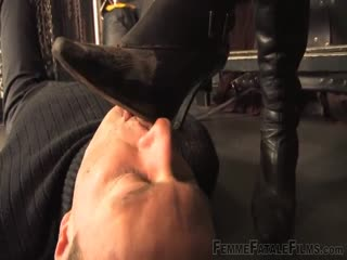 Foot fetish man caught and his wish granted