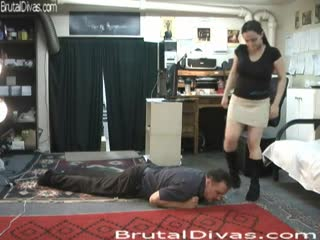 Trampling a man for fun