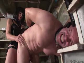 Slave suffer from two sado mistress