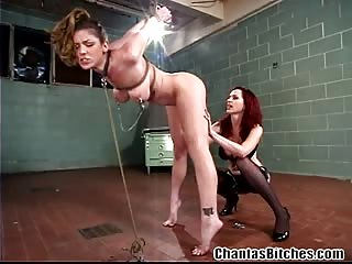 Horny lesbian mistress and her victim
