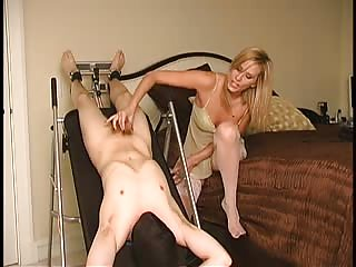 Mistress Madeline playing with her slave