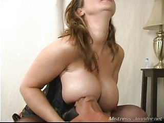 Big ass and tits smothered to slave