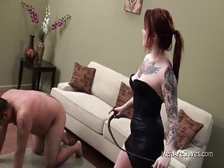Worshiped my ass and accept my whip