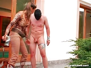Brutal punishment outdoors