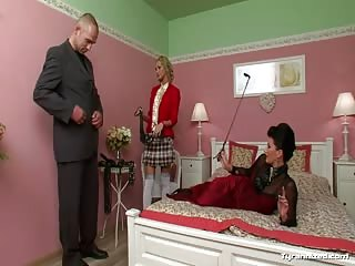 Dominated sub man abused by femdom bitches