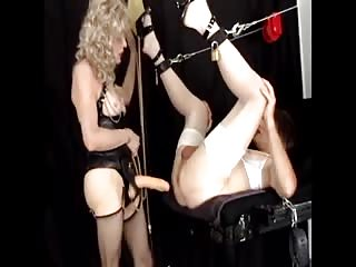 Bounded sissy slave fuck in the ass