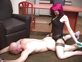 Pegging the bald man