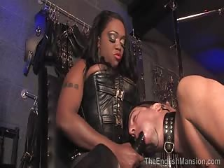 Gigantic black strapon of Ebony Mistress