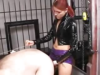 Fat slave fuck in doggy style in the dungeon