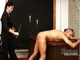 Ass caning in the office