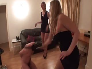 Femdom double whipping punishment