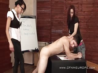 Dominating a weak male classmate