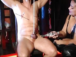 Tied balls played with vibrator