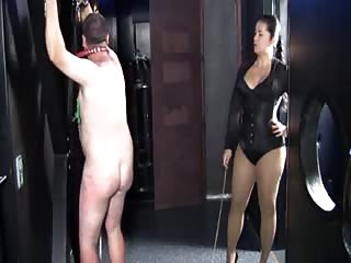 Tied slave whipped relentlessly