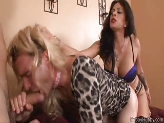 Humiliated slave ass fucked and sucked strapon