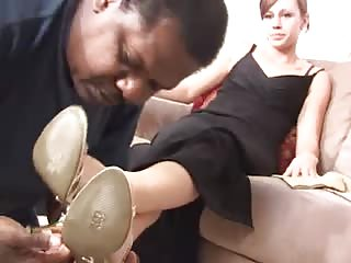 Sub black man foot worshiper