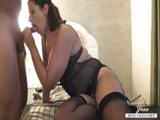 Experienced mistress sucking cock