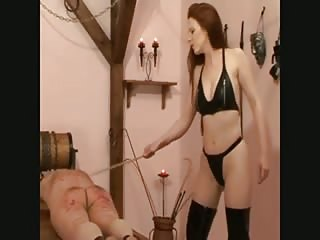 Long haired brunette severe ass spanking punishment