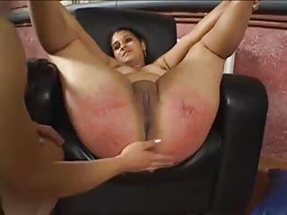 Chubby chick ass spanked