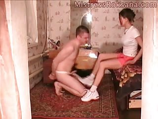 Freak ball busted by his domme