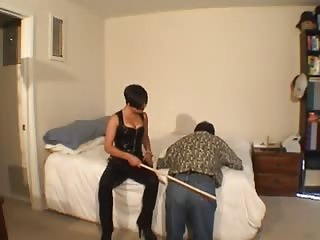 Cheating husband punished in severe ass caning