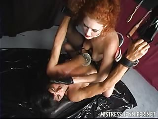 Red head domme with strapon