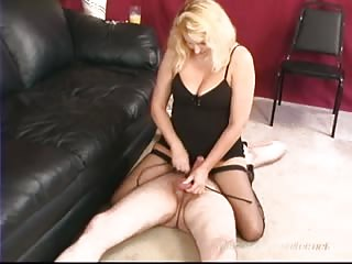 Blonde Mistress Brianna forced orgasm to slave